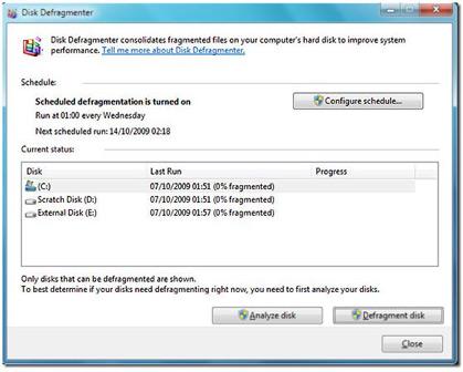 Defragmentarea hard-disk-urilor