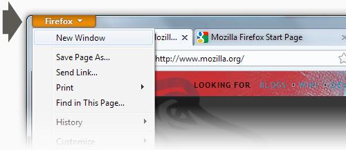 Firefox 4 - butonul firefox