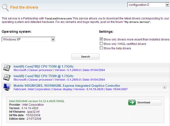 Ma-Config - Download drivere