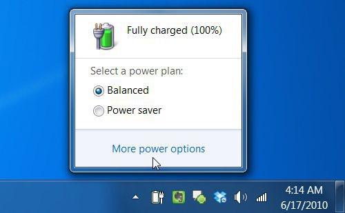 Setari power management