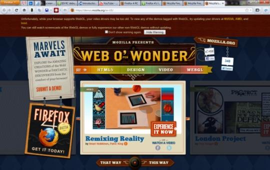 Firefox Web O Wonder