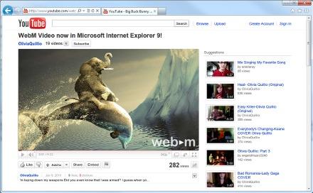 WebM Internet Explorer 9