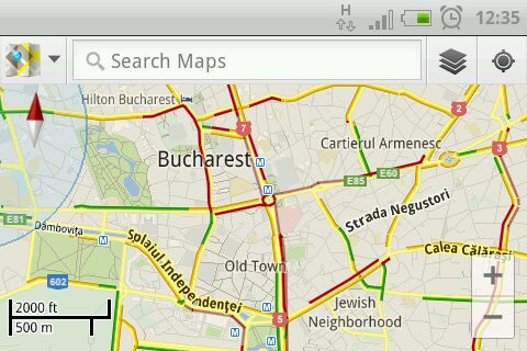 google maps trafic live in bucuresti
