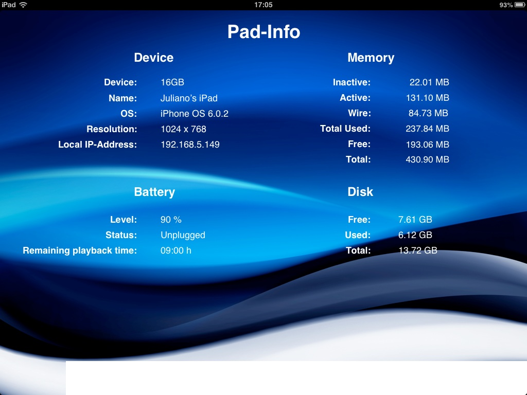 Pad Info