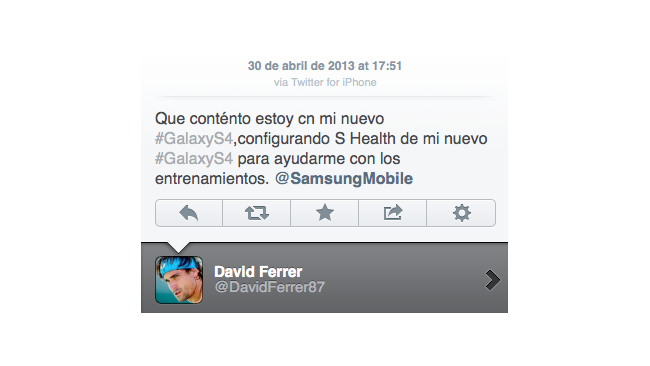 Samsung iPhone tweet