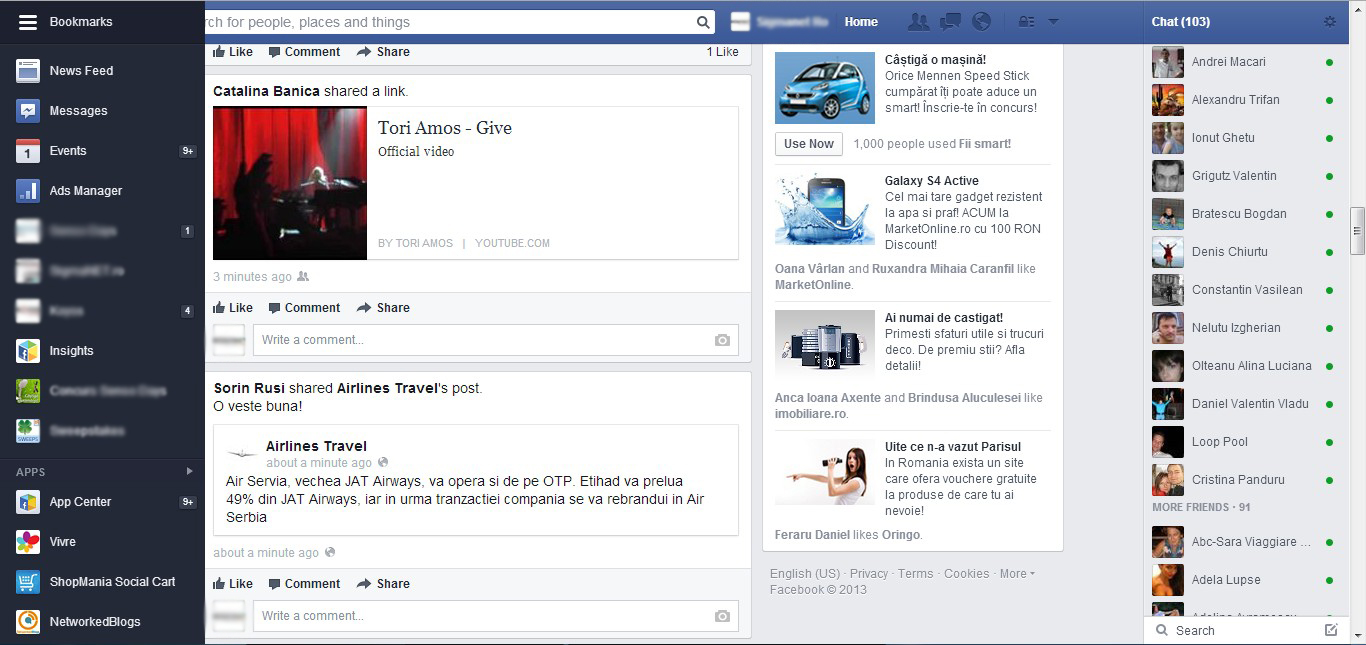 Noul Facebook NewsFeed 2