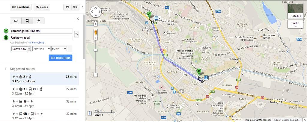 Google Maps - Public Transit