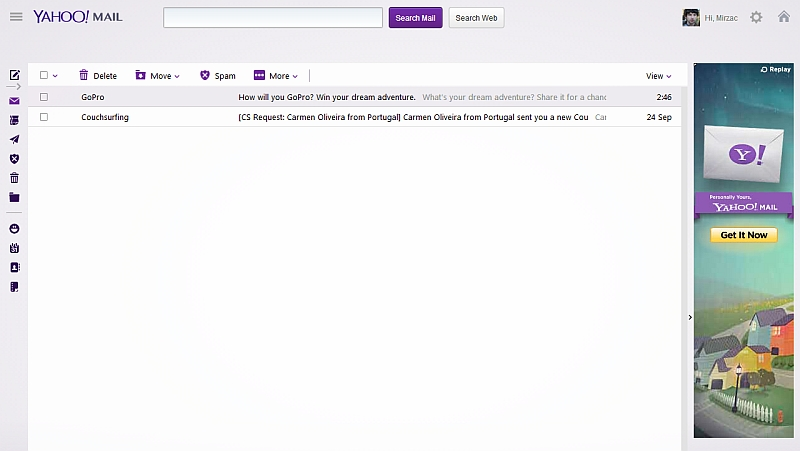 Yahoo Mail redesign