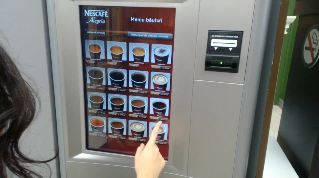 Nescafe automat touchscreen