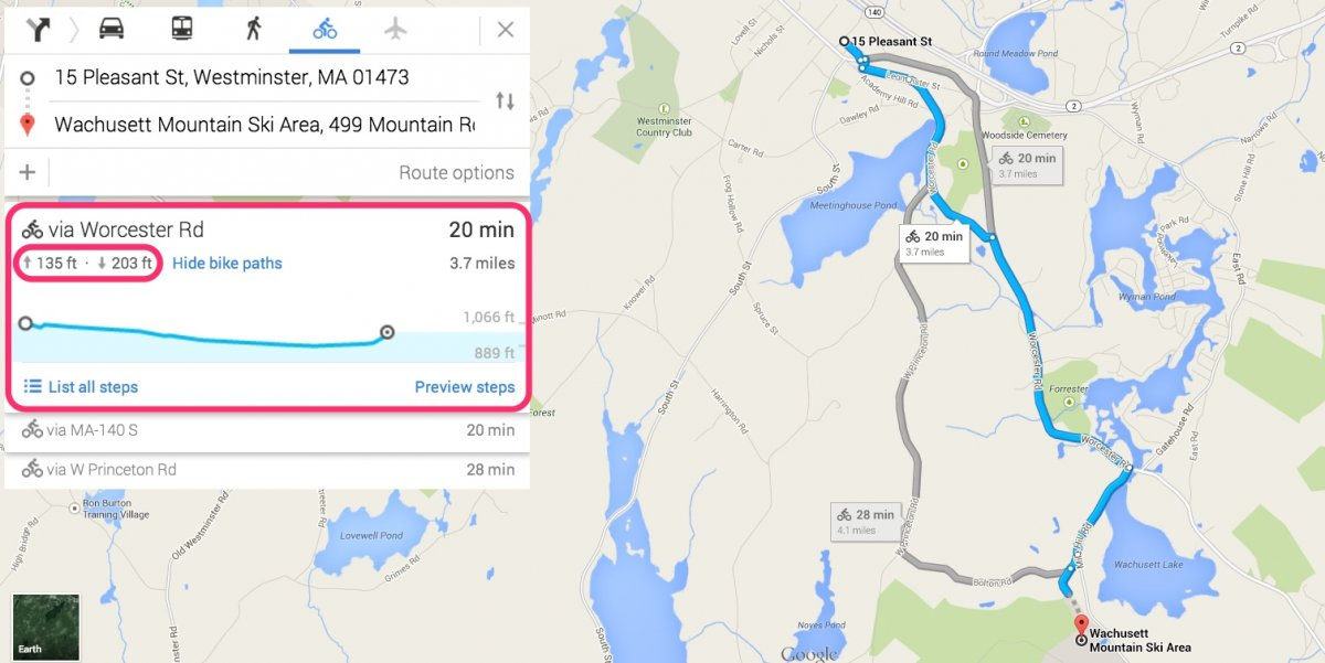 Google Maps - Altitudine