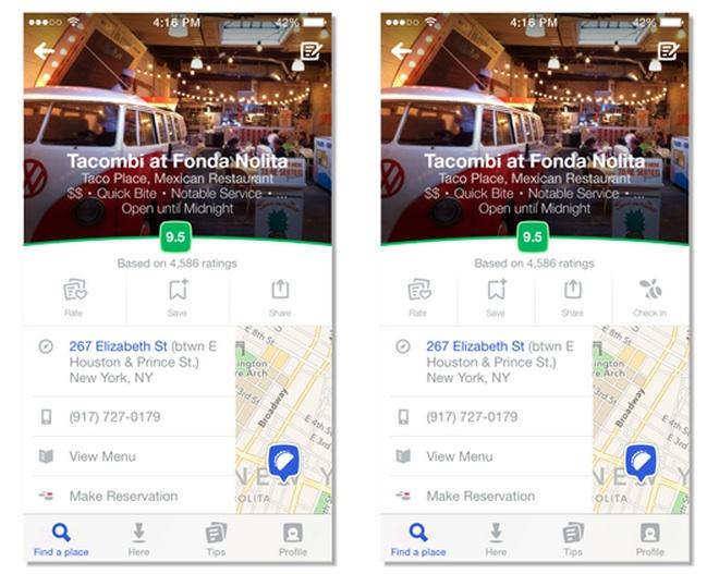 Foursquare redesign 2