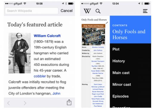 Wikipedia iOS