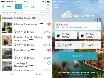Skyscanner Hotel Search