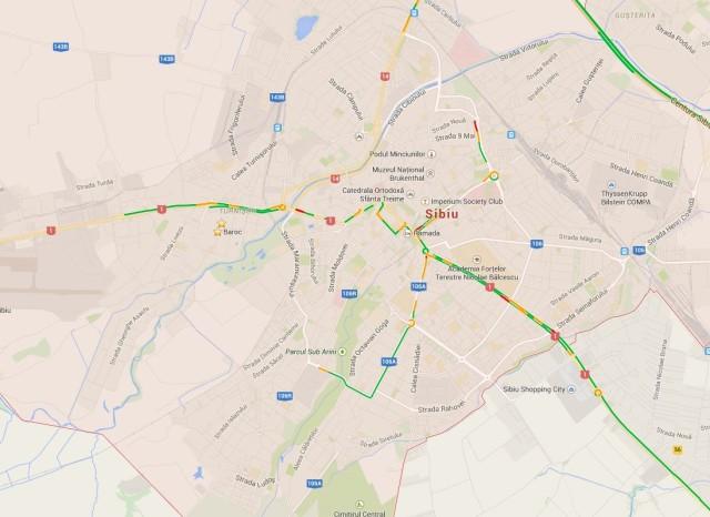 Google Maps - Trafic - Sibiu