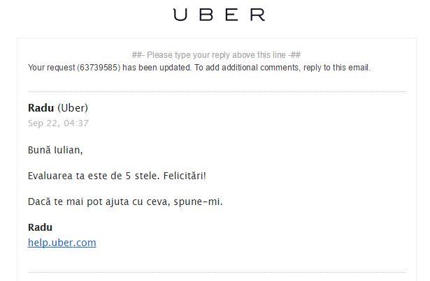 Raspuns Uber