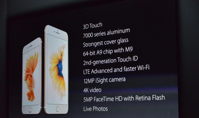 Specificații iPhone 6S