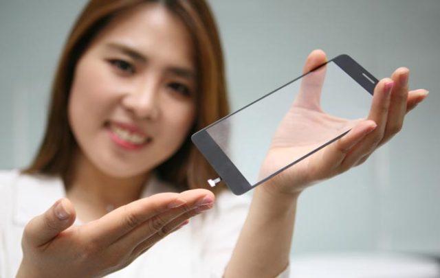 LG - Ecran cu senzor de amprenta