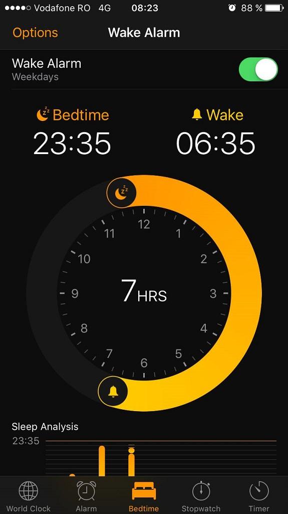 iOS 10 - Bedtime 2