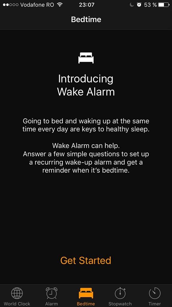 iOS 10 - Bedtime